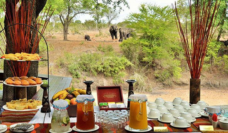 Colazione con vista all'Imbali Safari Lodge